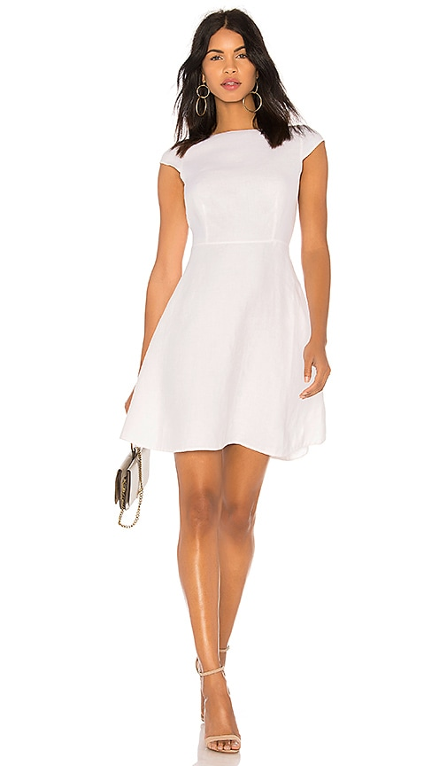 Theory Cap Sleeve Shift Dress in White