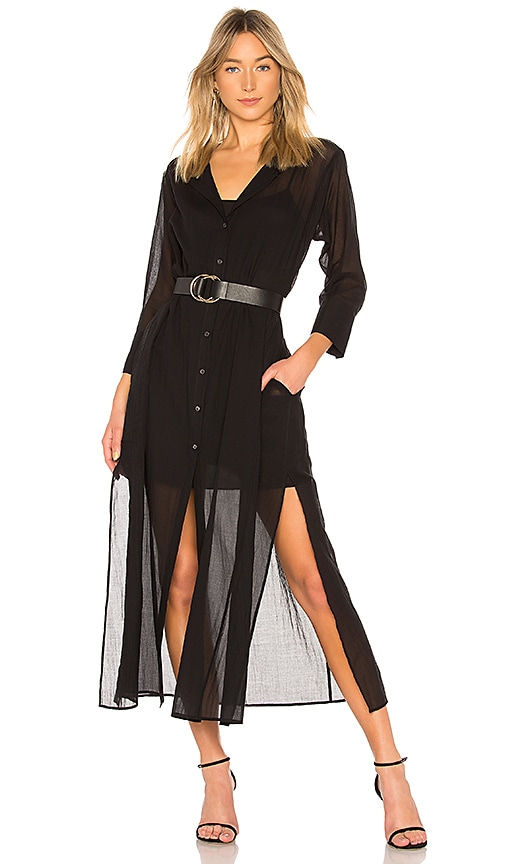 Theory Weekend Button Down Dress in Black
