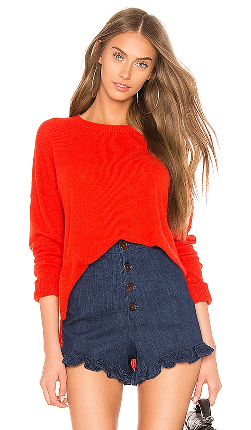 Theory Karenia Cashmere Sweater in Red