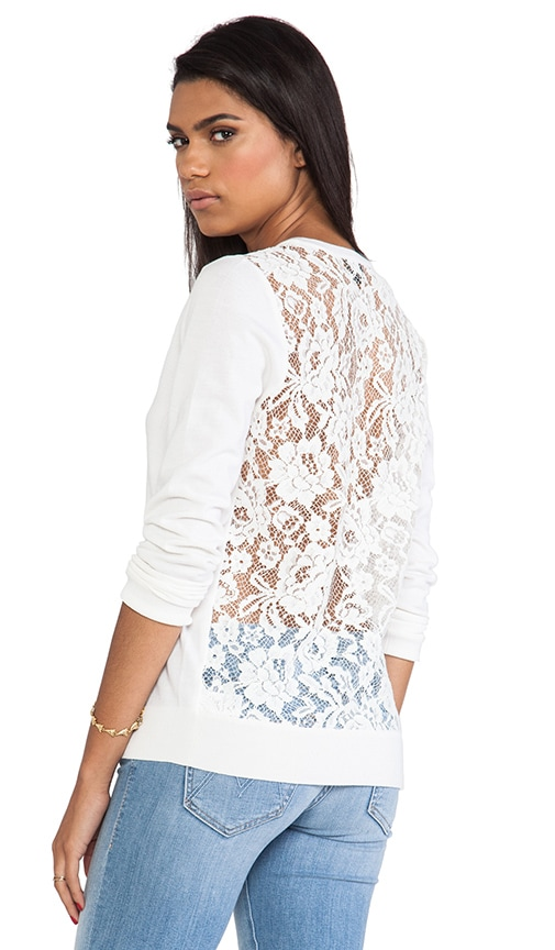 Adrianna Lace Back Sweater