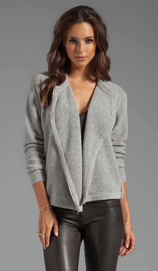 Cynth B Boucle Sweater with Asymmetrical Zip