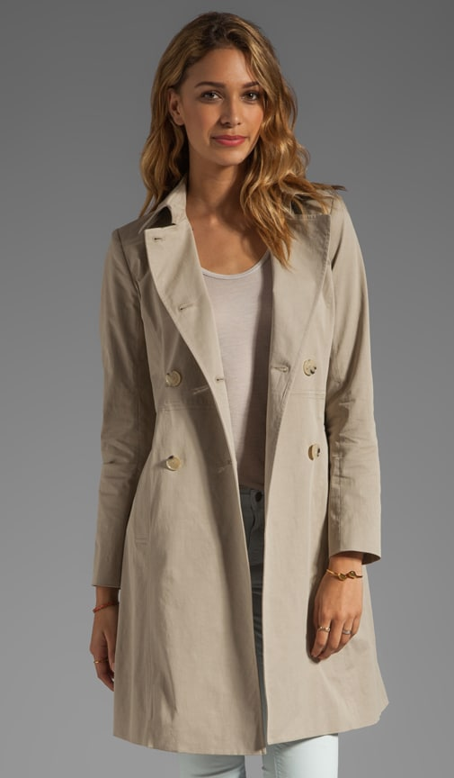 Practical Aminta B Stretch Twill Trench