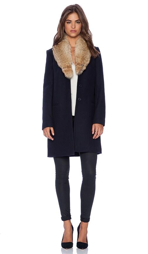 Belize Coat with Coyote Fur Trim
