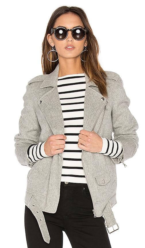 Theory Tralsmin DF Moto Jacket in Gray