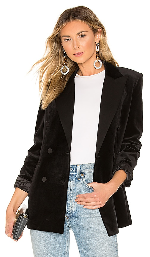 Stretch Velvet Tuxedo Jacket by Theory