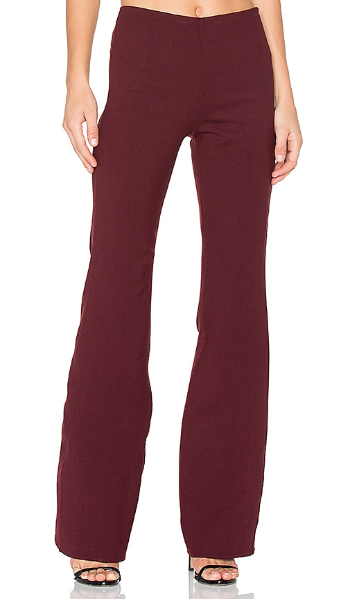 Theory Demitria Flare Pant in Burgundy
