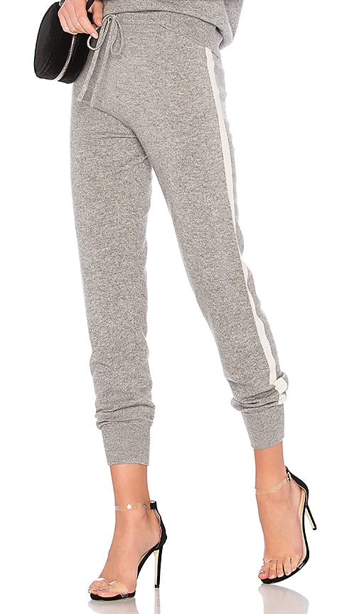 Theory Athletic Stripe Lounge Pant in Gray