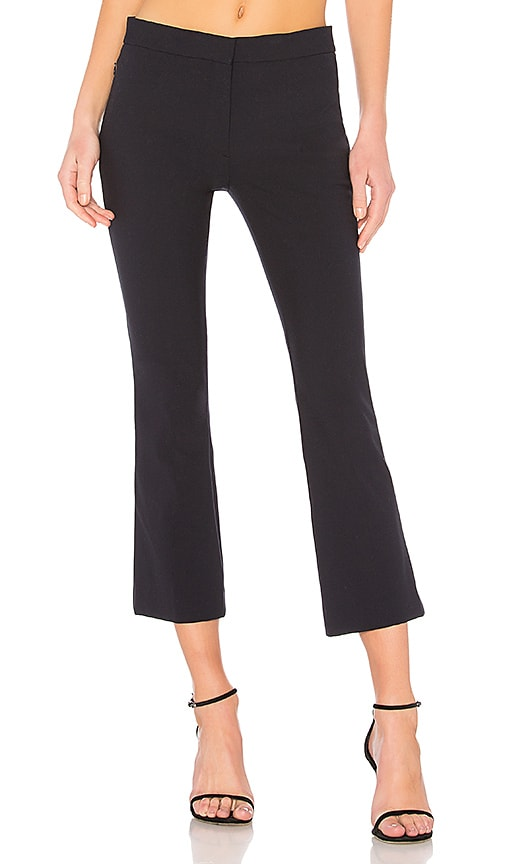 Theory Kick Crop Pant in Navy