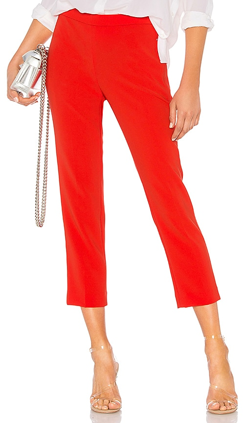 Theory Basic Pull On Pant in Red