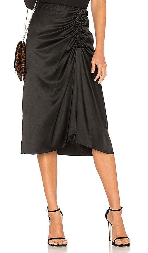 Theory Ruched Skirt in Black
