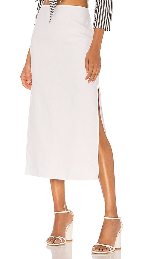 Theory Slit Skirt in White
