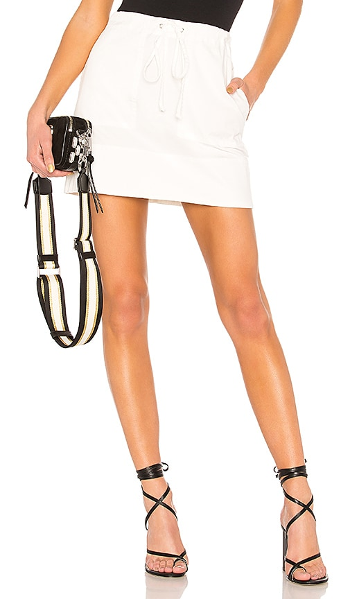 Theory Stitched Pocket Mini Skirt in Cream