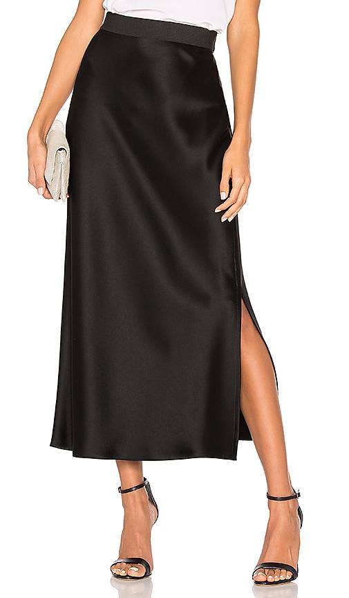 b7c7d56e0ee89b Theory Maxi Slip Skirt in Black | REVOLVE