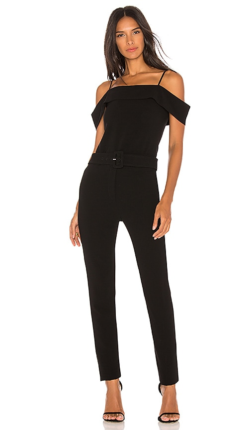 74e575a73423 Theory Cold Shoulder Jumpsuit in Black