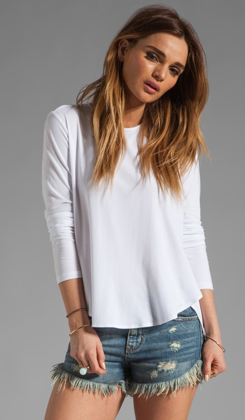 Ribbed Viscose Alania B Long Sleeve Tee