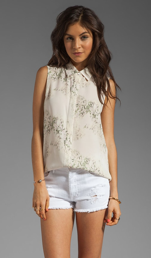 Cherry Blossom Print Earhart Top