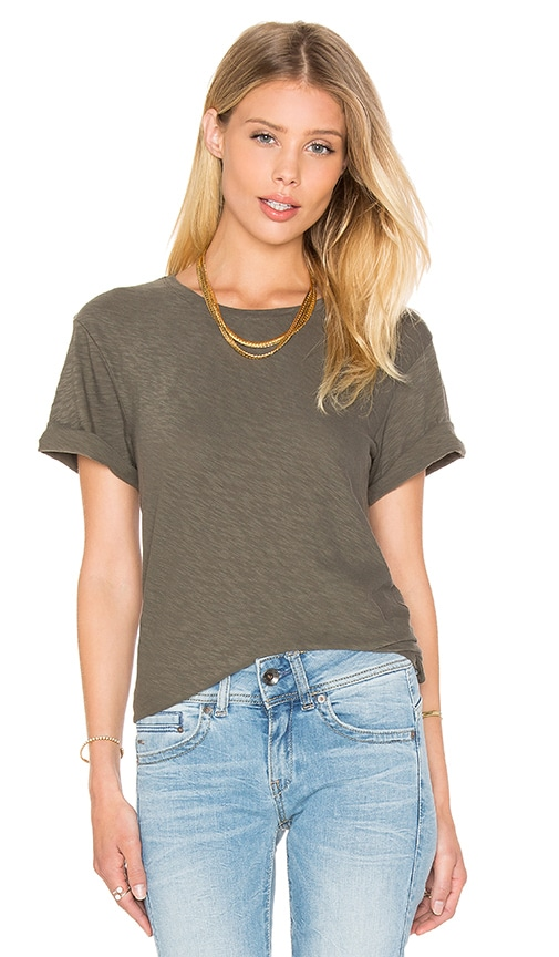 Theory Leibay Tee in Olive