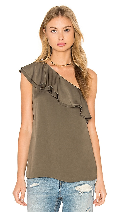 Theory Damarill One Shoulder Tank in Sage
