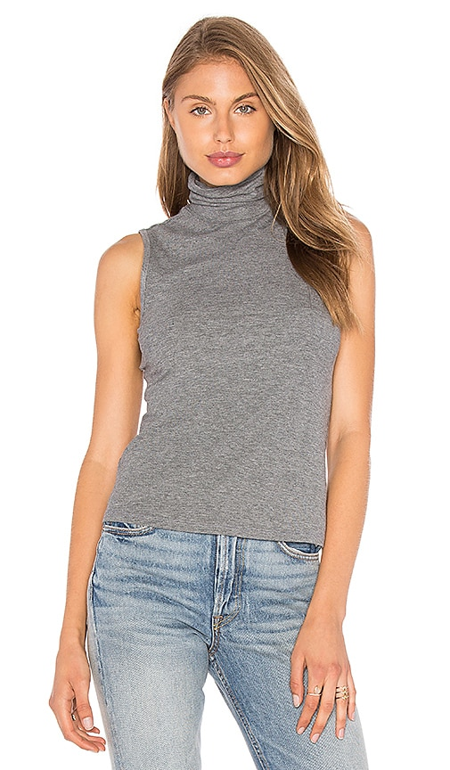 Theory Wendel Turtleneck Tank in Gray
