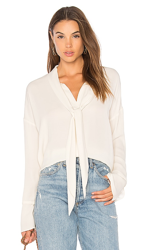 Theory Scarf Blouse in Ivory
