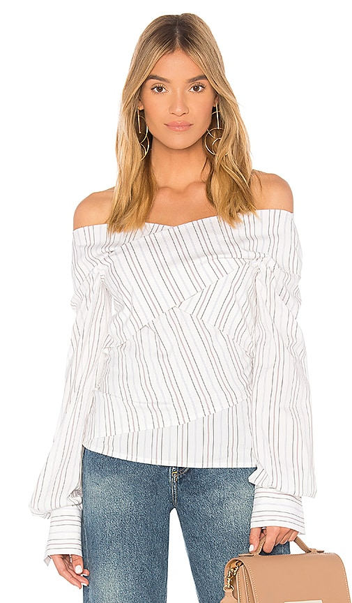 Theory Wrapped Blouse in White