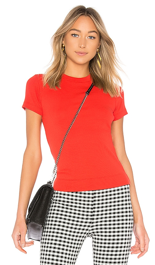 Theory Tiny Tee in Red