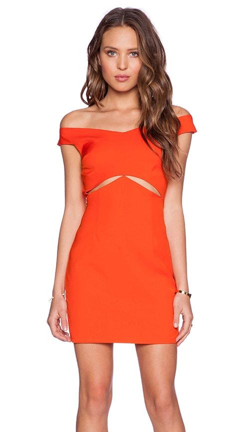 Three of Something Regal Dress in Atomic Tangerine