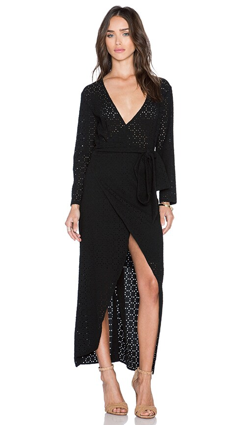 Three of Something Seven Stars Maxi Dress in Black