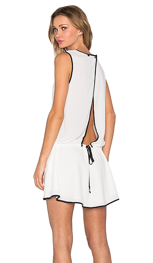 Three of Something All Right Dress in Ivory & Black