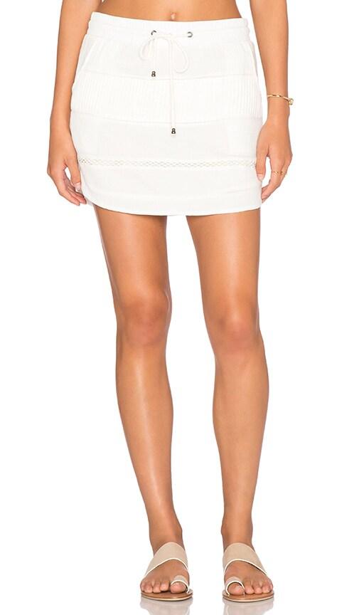 Three of Something Iris Mini Skirt in White