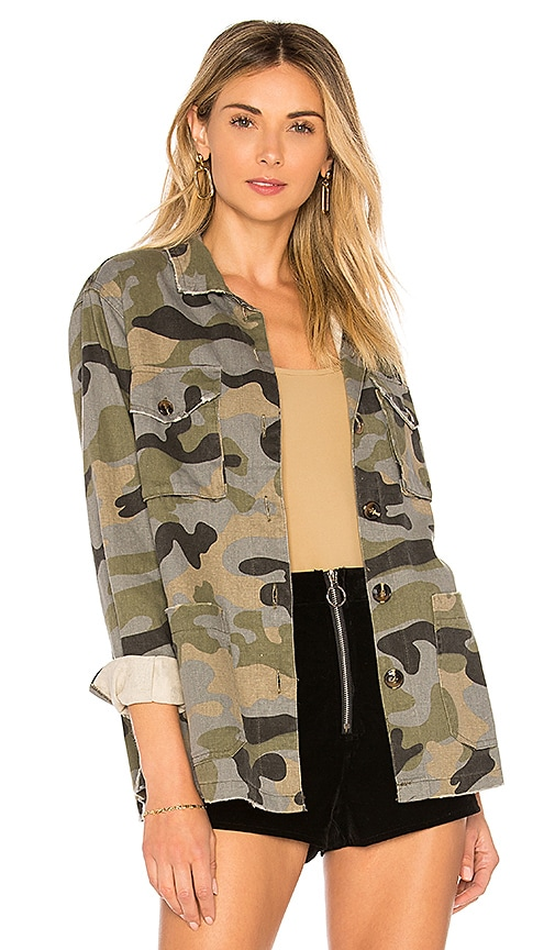 the hour Patch Pocket Camo Jacket in Beige