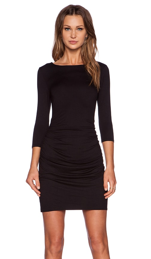 three dots Bodycon Dress in Black