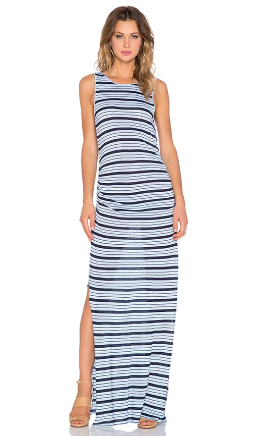 three dots Striped Maxi Dress in Island Sky