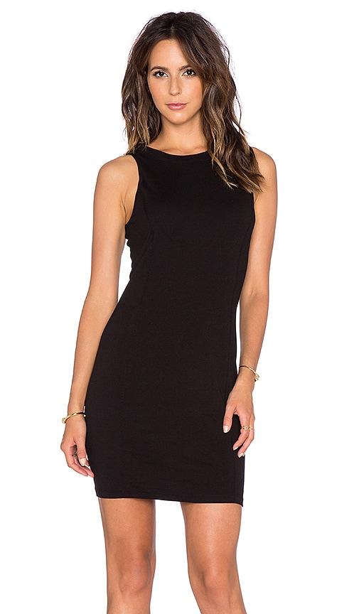 three dots Seamed Dress in Black