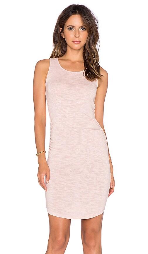 three dots Shirred Dress in Evening Sand