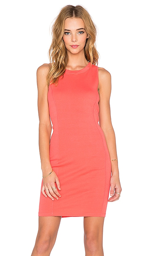 three dots Seamed Dress in Coral Sun