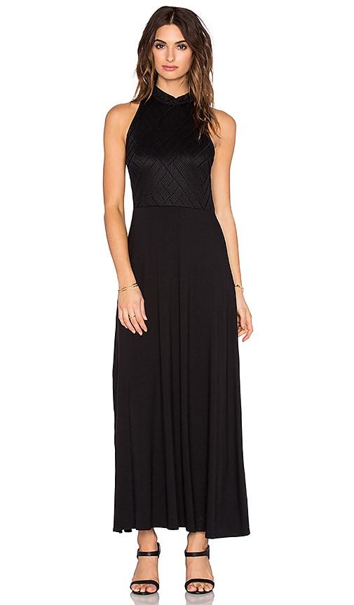 three dots Tara Maxi Dress in Black