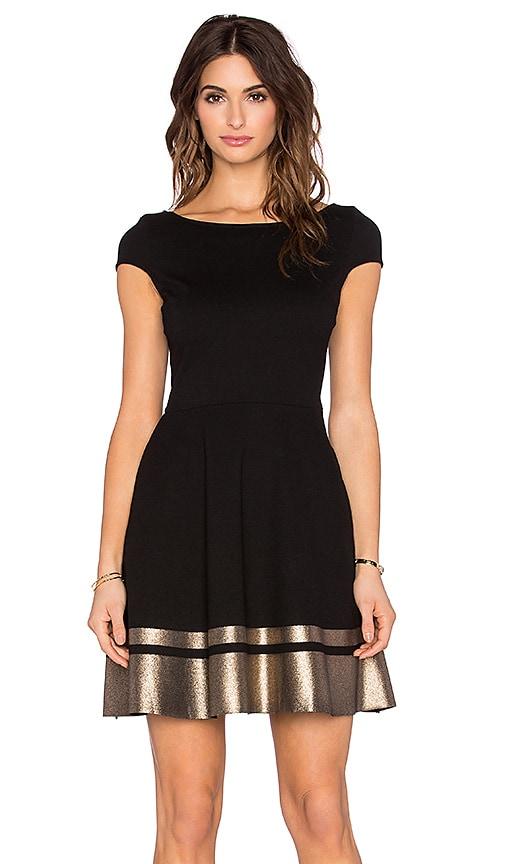 three dots Rita Mini Dress in Black