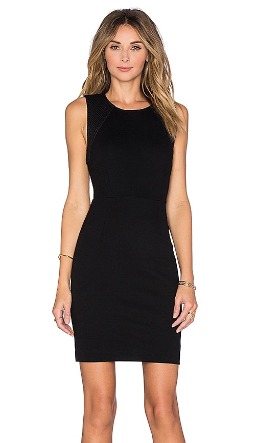 three dots Johanna Mini Dress in Black