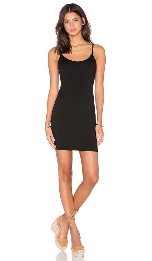 three dots Gisele Slip Dress in Black