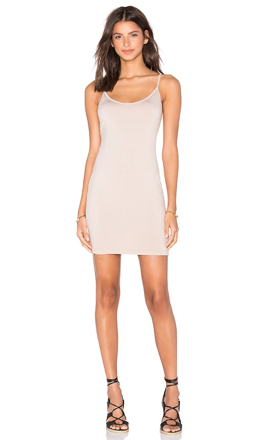 three dots Gisele Slip Dress in Tan