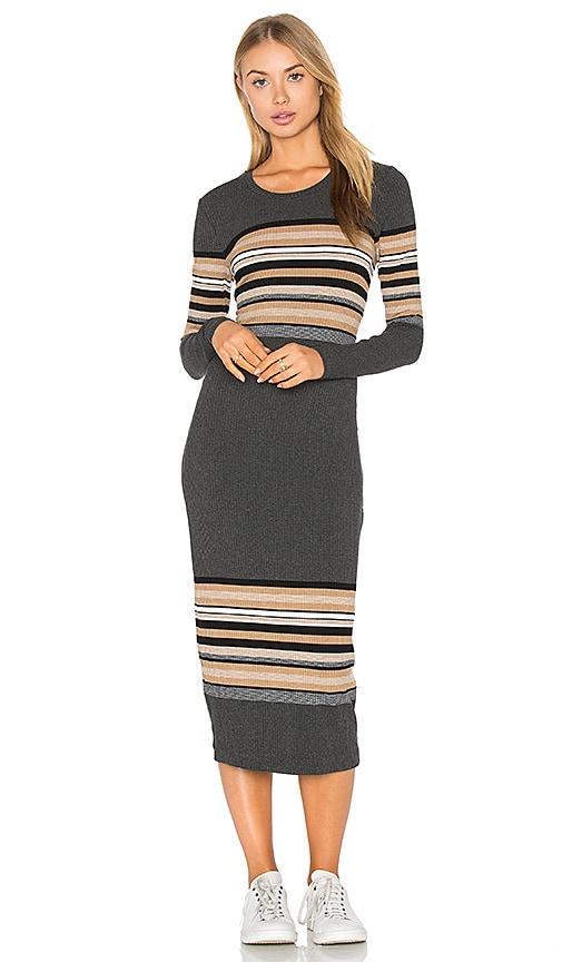 three dots Rosita Crewneck Dress in Charcoal