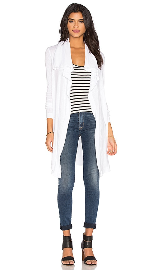 three dots Alexis Open Cardigan in White