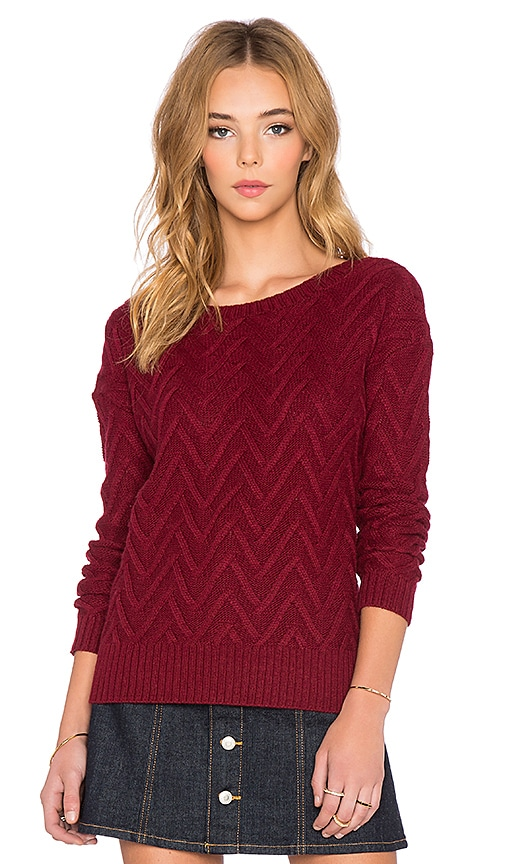 Scoop Back Drop Shoulder Sweater