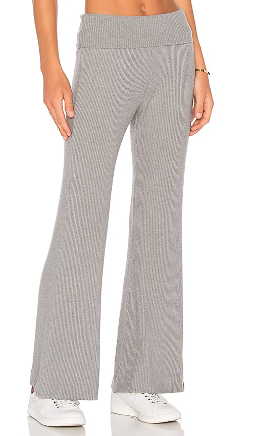 three dots Thia Rib Sweatpant in Gray