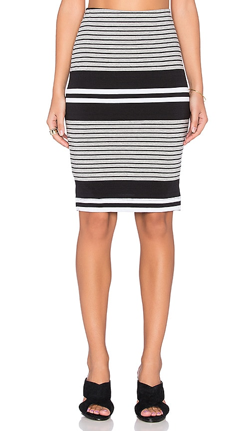 three dots Side Vent Pencil Skirt in Black