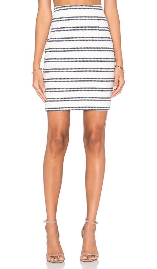 three dots Delphine Pencil Skirt in White