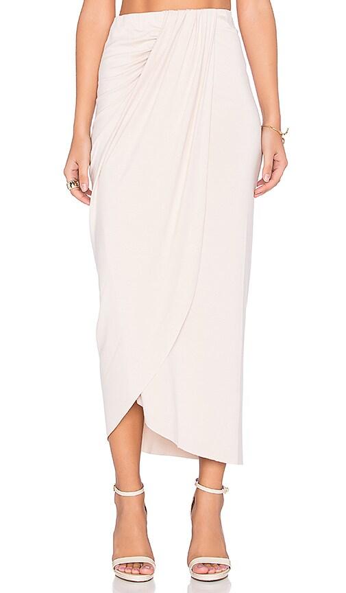 Pleated Drape Skirt