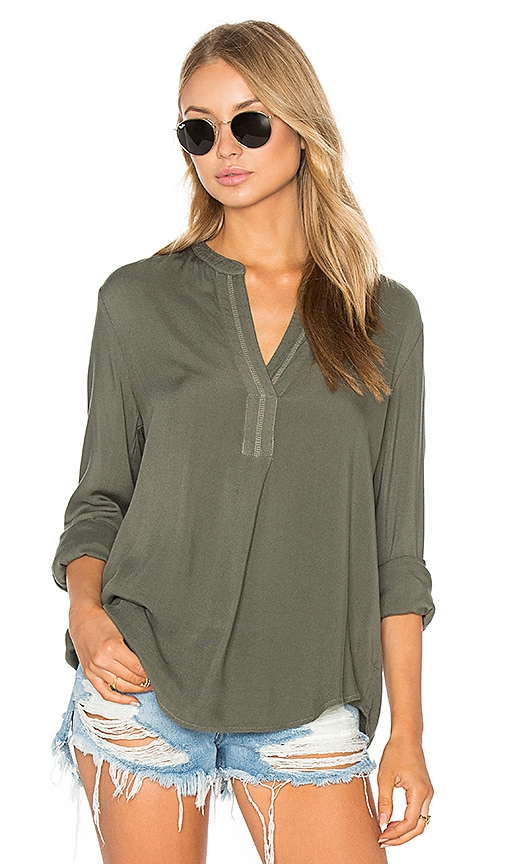 three dots Hadley Blouse in Olive