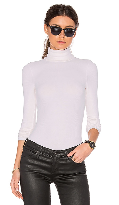 three dots Turtleneck Top in White